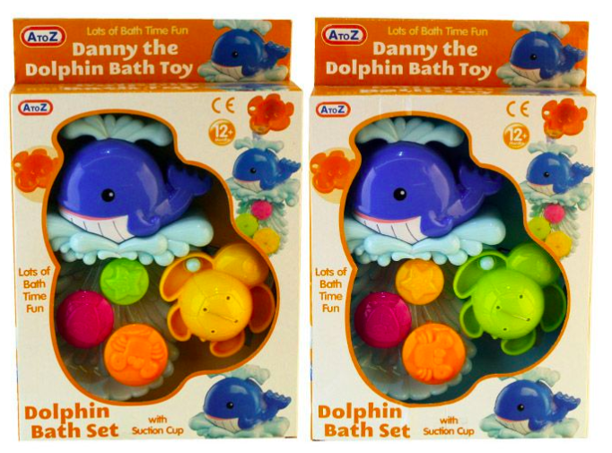 Danny The Dolphin Bath Set With Suction Cup